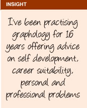 I've been practising graphology for 16 years